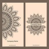 Retro vintage vizitka. vektorové pozadí. nebo pozvánky. ročník dekorativní prvky. ručně tažené pozadí. islám, arabština, indický, osmanské motivy. — Stock vektor