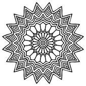 Mandala. Round Ornament Pattern — Stock Vector