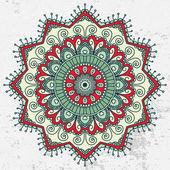 Mandala. runde muster ornament — Vecteur