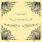 Roses frame oldskool Tattoo style — Stock Vector