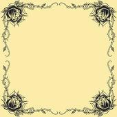 玫瑰框架 oldskool 纹身风格 — 图库矢量图片