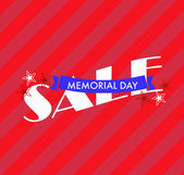 Memorial Day Sale Banner — Stock Photo