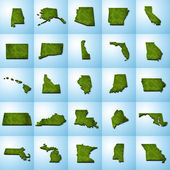US State Maps Set I — Stock Photo