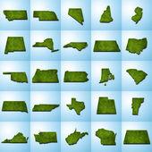 US State Maps Set II — Stock Photo