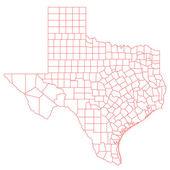Texas Map — Stock Photo