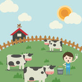 Farm life — Stock Vector