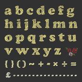 Blackboard scratching letters — Stock Vector