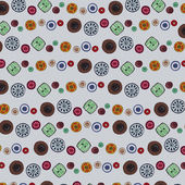 Background image of colorful buttons — Stok Vektör