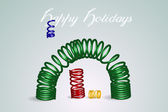 Set of colorful 3d springs, vector illustration — Stock Vector