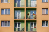 Block of flats in vertical frame — Stock Photo