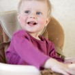 Little cute blond boy one years old — Stock Photo #45373263