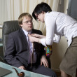 Love affairs. Office people. — Stock Photo #45377375