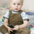 Little cute blond boy one years old — Stock Photo #45378641