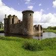 Moated Caerlaverock Castle — Stock Photo #45379217