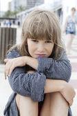 Unhappy little girl  — Stock Photo