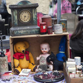 Props for sale on street market stall — Photo