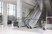 Escalators in business center — Stock Photo