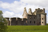 Moated Caerlaverock Castle — Stock Photo