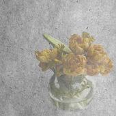 Background with tulip in vase — Foto de Stock