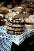Rye-bread heap on open market — Stock Photo