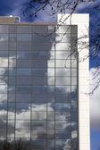 正方形のパターンと青い空 — ストック写真