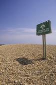 Brighton. Boundary of Naturist Beach — Fotografia Stock