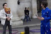 Straße Entertainer in Covent Garden Markt — Stockfoto