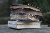 Pile of Vintage poetry books — Stockfoto