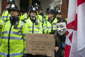 London protesters march against worldwide government corruption — Stock Photo