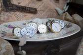 Zabytkowe zegary — Zdjęcie stockowe