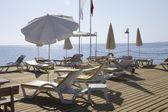 Parasols on a terrace — Stock Photo