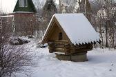 Poços na aldeia russa — Fotografia Stock
