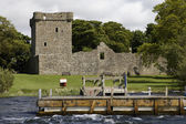 Loch Leven Castle, Scotland, wideangle shot — Stock Photo