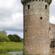 Moated Caerlaverock Castle — Stock Photo #45380903