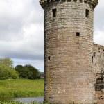 Moated Caerlaverock Castle — Stock Photo