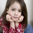 Serious cute little girl five years old — Stock Photo #45386113