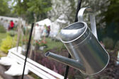 New metal watering can — Stock Photo