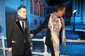 Mario Testino and director Chris Columbus at Love Ball — Stock Photo