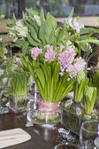 Bouquet of  tulip and hyacinth — Stockfoto