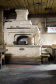 Interior  of russian house with oven — Foto Stock