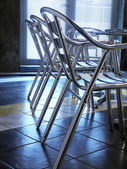 Steel chair in office — Foto de Stock
