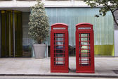 Two London Telephone Boxes — Stock Photo