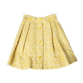Yellow, checked skirt — Stock Photo