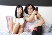 Flatmates in bedroom — Stock Photo