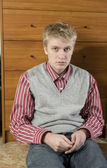 Portrait of young handsome blond man — Stock Photo