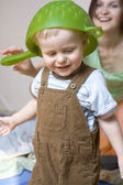 little smiling baby one years old — Stock Photo