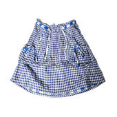 Skirt in white and blue checked — Stock Photo
