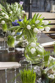 Decoration of dining table. Hyacinth. — Stock Photo