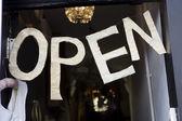 """Sign """"Open"""" — Stockfoto"""