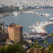 Red brick tower in Alanya — Stock Photo #45391077